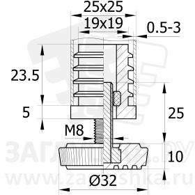 25-25М8.D32x25